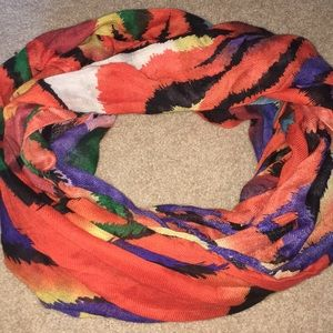 SLIGHTLY USED- Colored Tiger Stripe Infinity Scarf